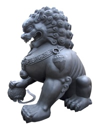 Image - ancient statue of Fu Dog. Tai Chi guardian